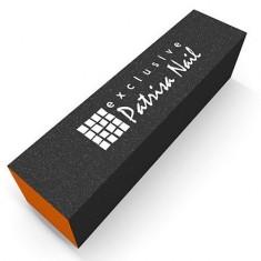 Patrisa Nail, Шлифовочный блок трехсторонний серо-оранжевый, 100/180/240