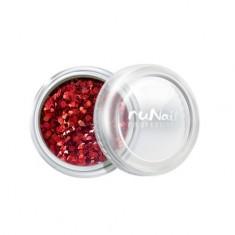 ruNail, дизайн для ногтей: конфетти (красный)