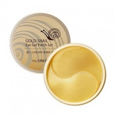 патчи с экстрактом муцина улитки для век the saem gold snail eye gel patch set