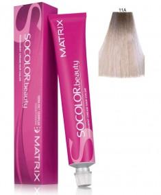 MATRIX 11A краска для волос, ультра светлый блондин пепельный / СОКОЛОР БЬЮТИ 90 мл