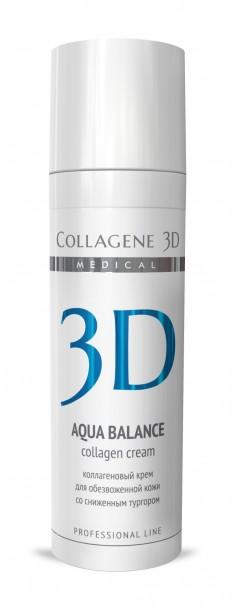 MEDICAL COLLAGENE 3D Крем с коллагеном и гиалуроновой кислотой для лица / Aqua Balance 30 мл проф.