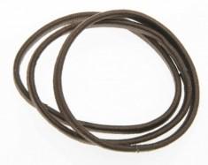 DEWAL BEAUTY Резинки для волос midi плоские, коричневые 8 шт