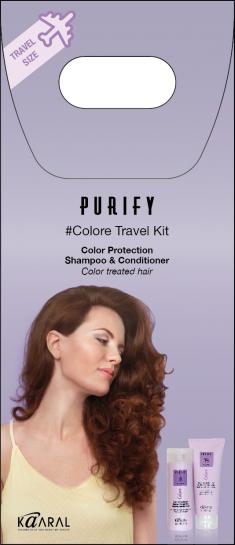 KAARAL Набор дорожный для окрашенных волос (шампунь 100 мл, кондиционер 75 мл) / Purify Colore