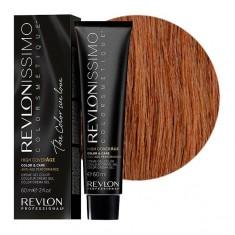 REVLON PROFESSIONAL 6-34 краска для волос, ореховый темный блондин / RP REVLONISSIMO COLORSMETIQUE High Coverage 60 мл