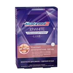 BLEND-A-MED Отбеливающие полоски 3DWhite Luxe 14 пар