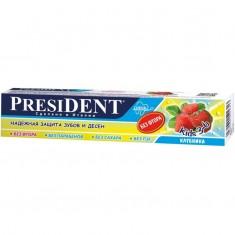 Президент Kids зубная паста Клубника без фтора 50мл President
