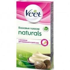 Veet Naturals полоски восковые для депиляции с маслом Ши N10