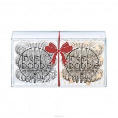 Invisibobble Резинка-браслет для волос  Holiday Duo Pack серебряный/бронзовый