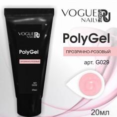 Vogue Nails, PolyGel, прозрачно-розовый, 20 мл