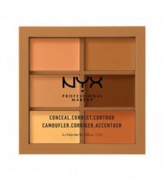 NYX PROFESSIONAL MAKEUP Палетка для коррекции Conceal, Correct, Contour Palette - Deep 303
