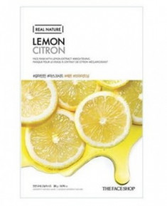 Маска с экстрактом лимона THE FACE SHOP Real nature mask sheet lemon