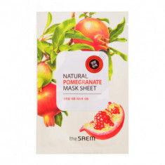 Маска тканевая с экстрактом граната THE SAEM Natural Pomegranate Mask Sheet 21мл