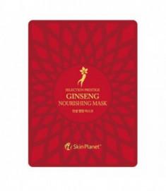 Маска для лица тканевая женьшень Mijin Skin Planet Selection prestige ginseng nourishing mask 25г