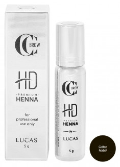 LUCAS' COSMETICS Хна для бровей, кофе / CC Brow Premium henna HD Coffee 5 г