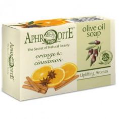 Aphrodite Мыло оливковое с апельсином и корицей 100 г