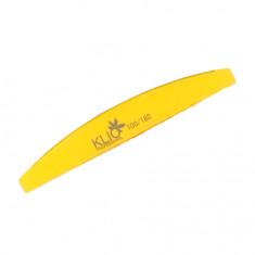 Klio Professional, Баф полукруглый, желтый, 100/180