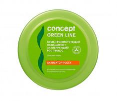 CONCEPT Крем препятствующий выпадению и активирующий рост волос / GREEN LINE Hair Loss Reducing and Stimulant Cream 300 мл