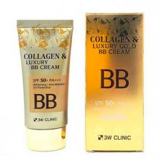 3W Clinic Collagen & Luxury Gold BB Cream коллагеновый ВВ крем с коллоидным золотом 50мл