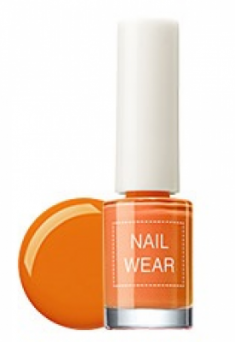 Лак для ногтей THE SAEM Nail wear 13. Yellow Orange 7мл