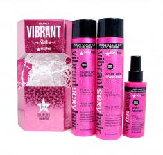 SEXY HAIR Набор для волос Для сочного цвета (шампунь 300 мл, кондиционер 300 мл, спрей для сушки 124 мл) SEXY HAIR