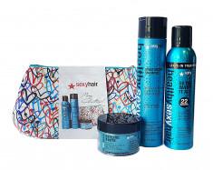 SEXY HAIR Набор для волос Новогоднее приключение (шампунь 300 мл, спрей-уход 150 мл, паста для укладки 50 мл) SEXY HAIR