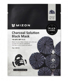 Тканевая маска c древесным углем Mizon Charcoal Solution Black Mask 25г