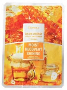 Маска с фильтратом улитки и мёдом DEOPROCE Color synergy effect sheet mask yellow 20г
