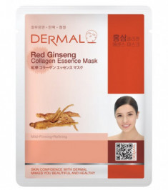 Тканевая маска женьшень и коллаген Dermal Red Ginseng Collagen Essence Mask 23 мл