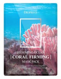 Набор тканевых масок DEOPROCE BLOOMING OCEAN CORAL FIRMING MASK PACK 25г*5