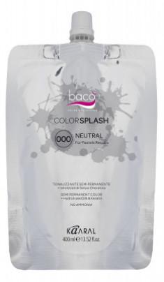 Краска полуперманентная Kaaral Color Splash 000 NEUTRAL нейтральный для создания пастельных тонов 400 мл