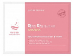 Маска тканевая для чувствительной кожи NATURE REPUBLIC REAL COMFORTING MASK SHEET [AHA/BHA] 24гр