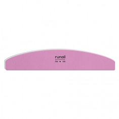 ruNail, Пилка для искусственных ногтей, розовая, полукруглая, 150/150