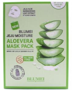 Тканевая маска для лица с Алоэ Blumei Jeju Moisture Aloe Mask 23 г*10 шт