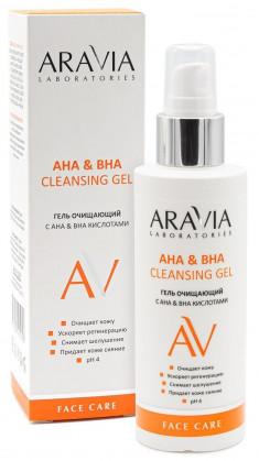 ARAVIA Гель очищающий с АНА & ВНА кислотами / АНА & ВНА Cleansing Gel 150 мл