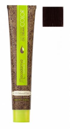 Краска для волос Macadamia Oil Cream Color 5.62 КРАСНО РАДУЖНЫЙ ЯРКИЙ КАШТАНОВЫЙ 100