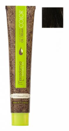 Краска для волос Macadamia Oil Cream Color 4/2 СРЕДНИЙ ЗЕЛЕНО МАТОВЫЙ КАШТАНОВЫЙ 100мл