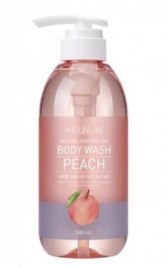 Гель для душа с экстрактом персика WELCOS AROUND ME Natural Perfume Vita Body Wash Peach 500мл